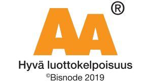 Olemme ansainneet Bisnoden AA-luottokelpoisuusluokituksen
